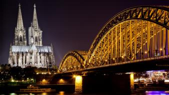 Europe historic cathedral hdr photography cologne rivers wallpaper