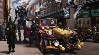 Fantastic artistic cars digital art fantasy wallpaper