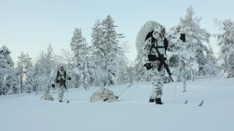 Finland 2008 scandinavia skiing finnish armed forces Wallpaper