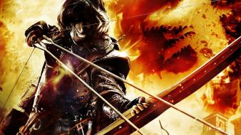 Fire bows teeth arrows dragons dogma wallpaper