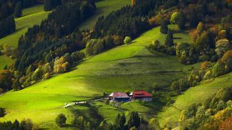 Germany black forest fields forests Wallpaper
