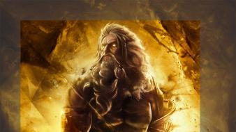 God of war artwork zeus Wallpaper