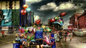 Hdr photography balloons colors vendors wallpaper