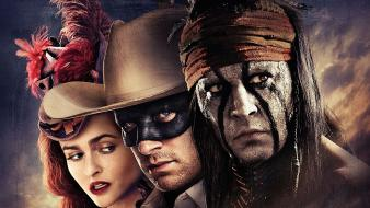 Helena bonham carter johnny depp the lone ranger wallpaper