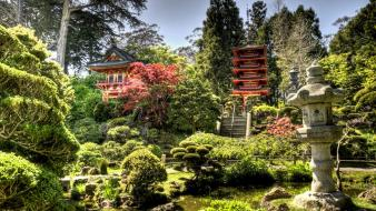 Japan nature trees garden temples shrines japanese wallpaper