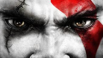 Kratos face wallpaper