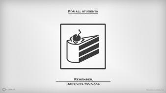 Laboratories simple symbols cake is a lie Wallpaper