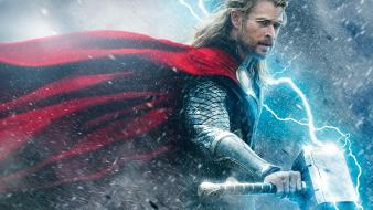 Lightning chris hemsworth thor: the dark world wallpaper