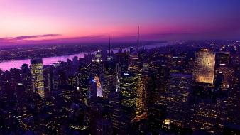 Lights new york city hdr photography evening wallpaper
