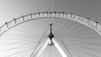 London eye grayscale ferris wheels united kingdom modern wallpaper