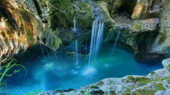 National park lagoon cavern triglav natural beauty Wallpaper