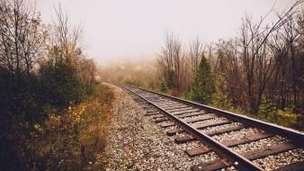Nature railroads trains Wallpaper