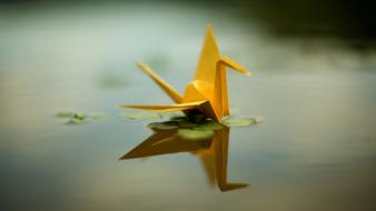 Origami water wallpaper