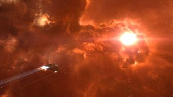 Outer space eve online shuttle spaceships vehicle wallpaper