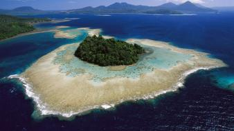 Papua new guinea beaches islands landscapes nature wallpaper