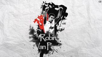 Red devils robin van persie football players Wallpaper