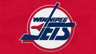Red sports hockey nhl ice logos winnipeg jets wallpaper