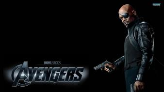 Samuel l. jackson the avengers nick fury (movie) Wallpaper