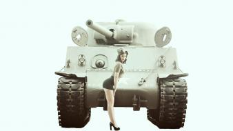 Sarah long redhead tanks war wallpaper