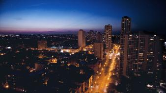 Sunset cityscapes urban city lights evening cities wallpaper