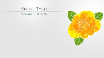 Thrones tv series house tyrell growing strong wallpaper