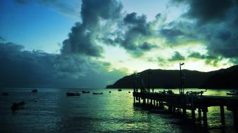 Trinidad and tobago clouds landscapes water wallpaper
