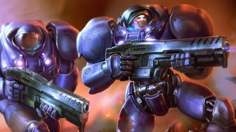 Video games starcraft fantasy art game wallpaper
