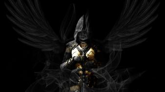 Wings masks warriors swords wallpaper