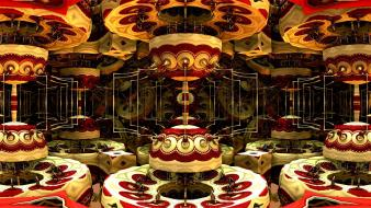 Abstract carousel colors digital art Wallpaper