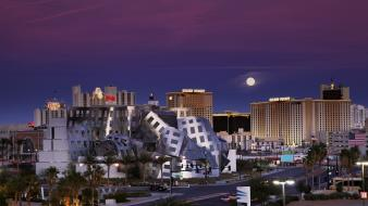 Architecture moon las vegas buildings usa nevada wallpaper