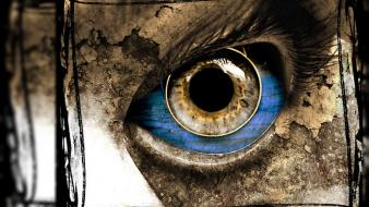 Artwork dark digital art eyes scary wallpaper