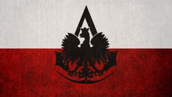 Assassins creed flags poland logos polish flag eagle wallpaper