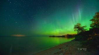 Bing canada aurora borealis beaches lakes wallpaper