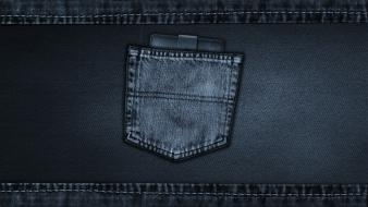 Blue jeans digital art pocket denim clothing material Wallpaper