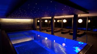 Blue room swimming pools wallpaper