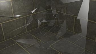 Broken glass shattered digital art wallpaper