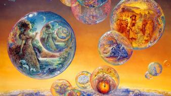 Bubbles art dreams time josephine wall mystical wallpaper