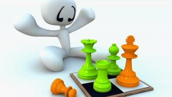 Chess playing wallpaper