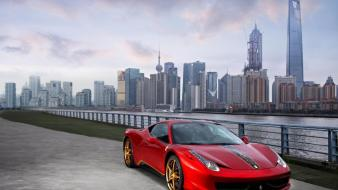 Cityscapes red china ferrari 458 italia wallpaper
