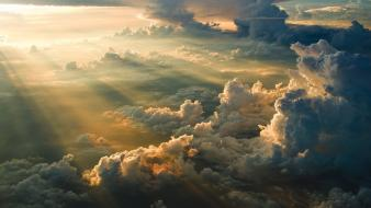 Clouds nature skies sun rays wallpaper