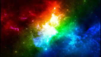 Colorful space Wallpaper