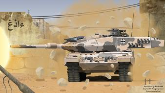 Desert storm weapons tanks vehicles leopard 2 wallpaper
