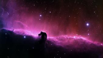 Earth horsehead nebula outer space stars wallpaper