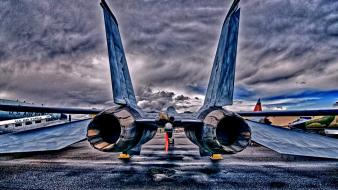 F 14 tomcat hdr photography aircraft fighter jet wallpaper