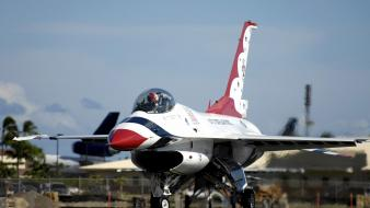 F-16 fighting falcon thunderbirds (squadron) aircraft wars wallpaper