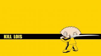 Family guy kill bill parody stewie griffin wallpaper