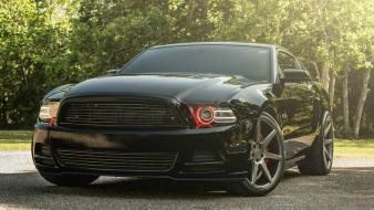 Ford mustang black paint cars muscle wallpaper