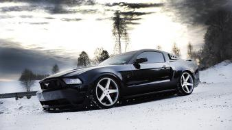Ford mustang black wallpaper