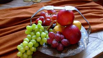 Fruits grapes apples strong fresh vitamins wallpaper