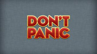 Galaxy dont panic gray grey background typography wallpaper